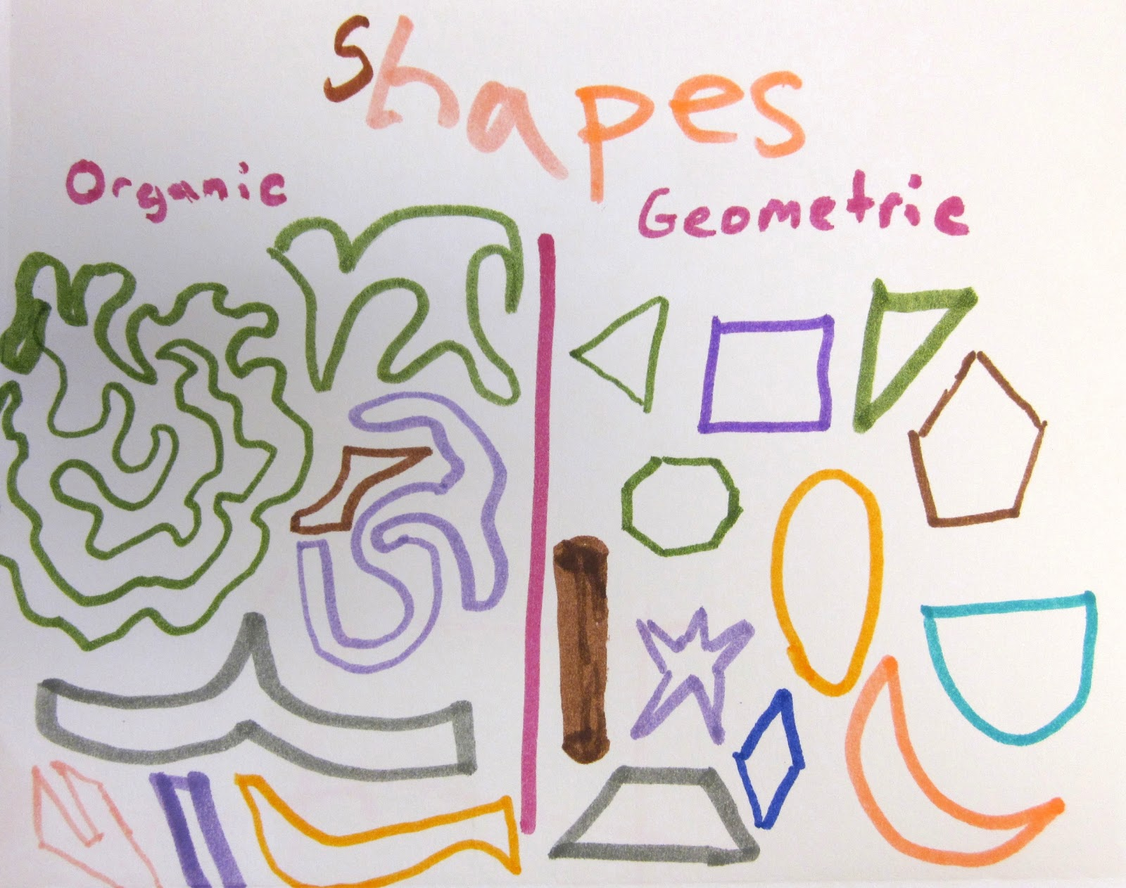 Lines Shapes And Forms : Art is basic teacher elements of exercise