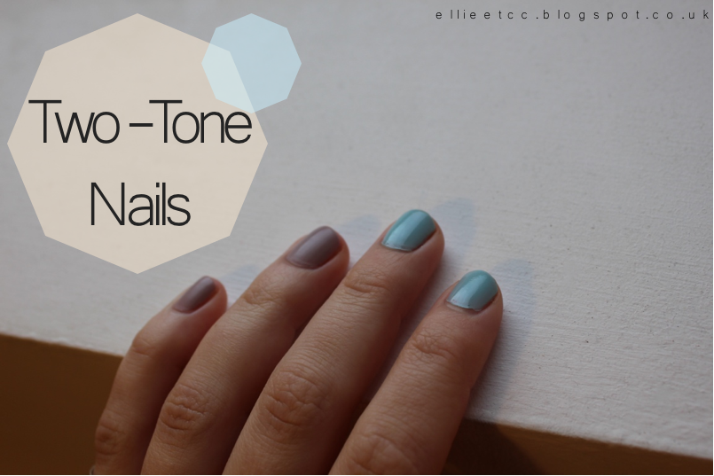 baby blue, barry m, blue, grey, matte, nails, NOTD, pastel, trend, two-tone, vanilla,