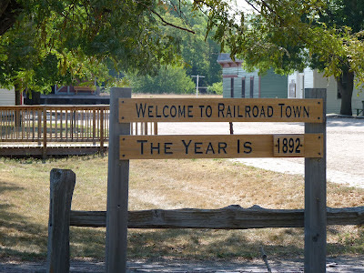 Railroad town sign - 1892