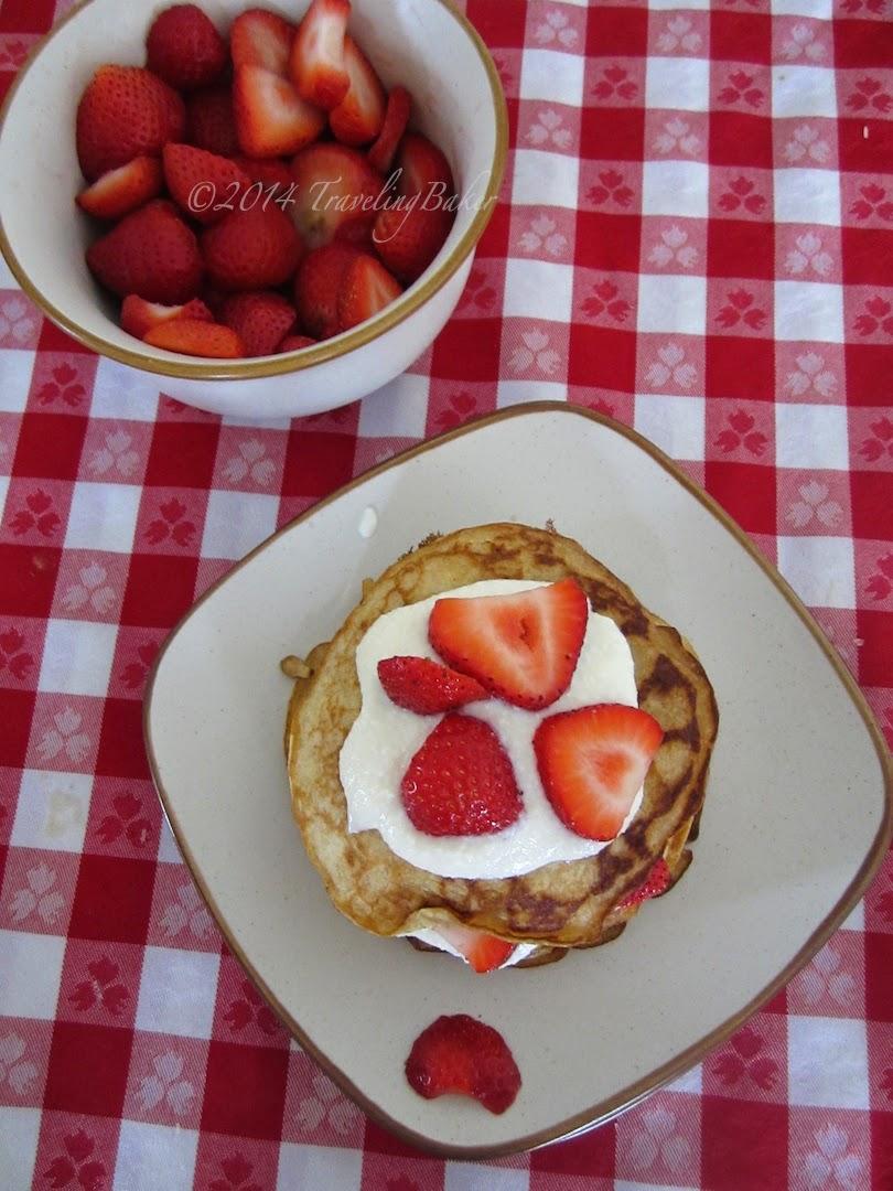 pancakes light con ricotta e fragole