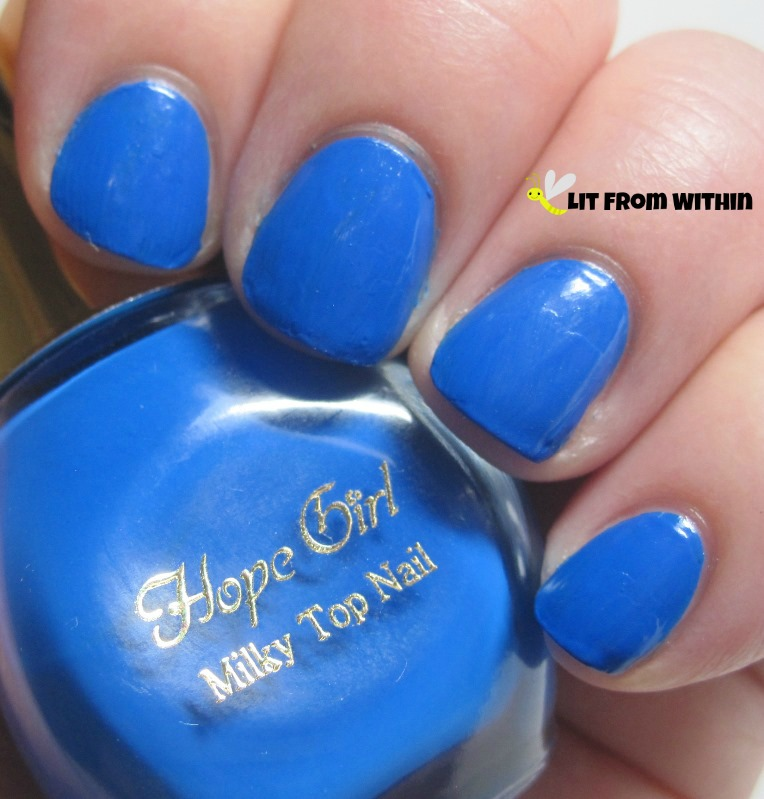 Hope Girl BL03 - a beautiful bright blue that I got in my Blue Memebox