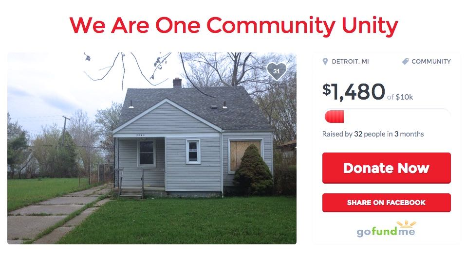 Go Fund Me - We Are One Communty Unity, Inc. - Home For The Homeless -