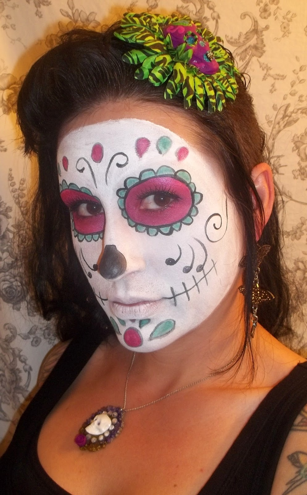 Bethezda Preoccupations Sugar Skull Makeup Tutorial