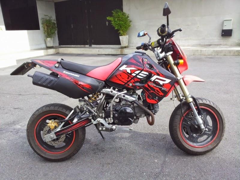 Modifikasi Kawasaki KSR 110 Merah