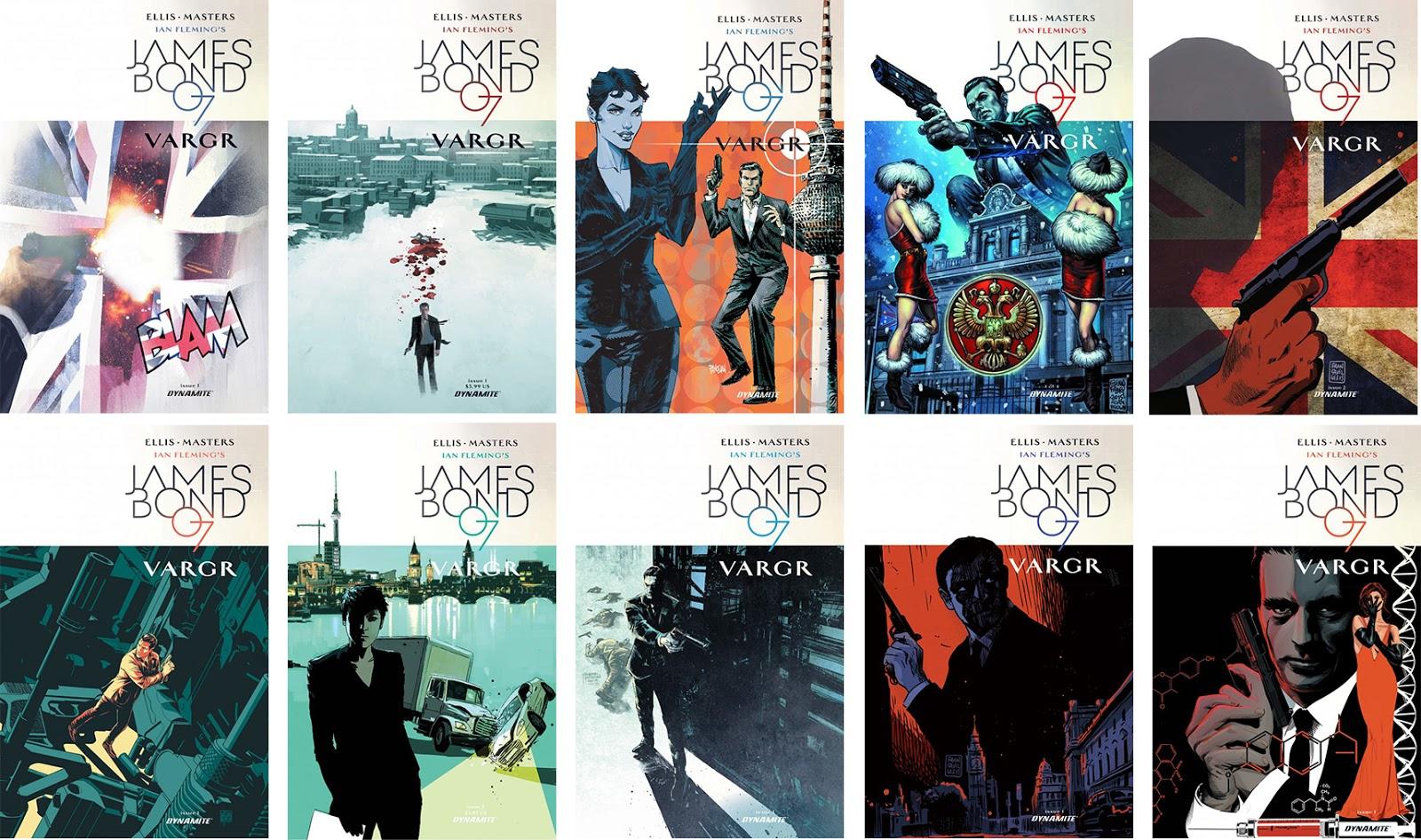 James Bond Book Cover Art : Illustrated the art of james bond