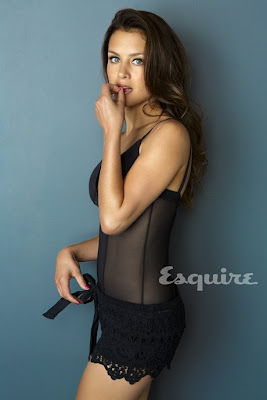 Hannah Ware Sexy Black Dress Esquire Magazine November 2012 - Beautiful Female Photo