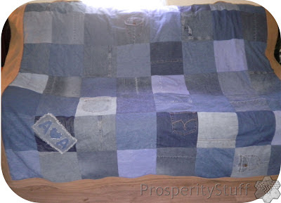 ProsperityStuff Fleece & Jeans throw-quilt on couch
