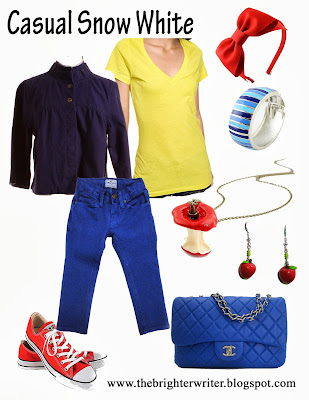 Casual Snow White for any Disneyland or Disneyworld vacation! www.thebrighterwriter.blogspot.com