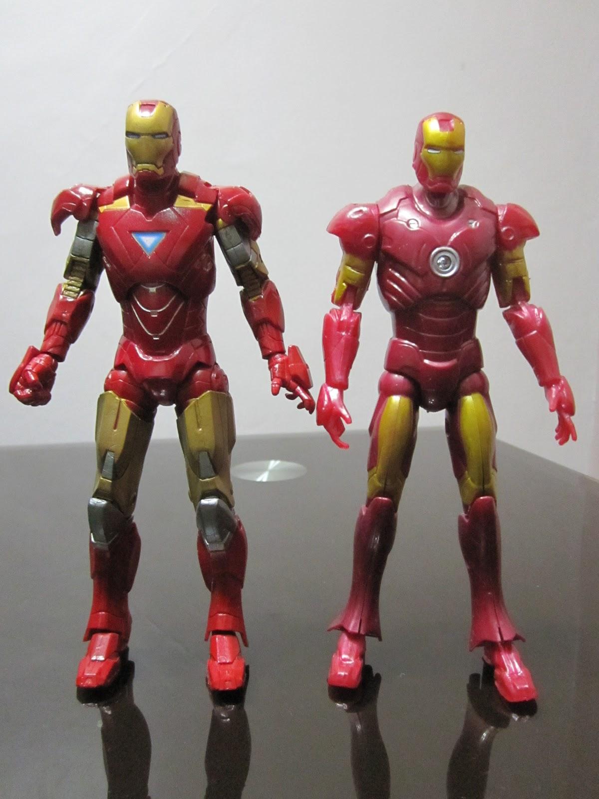 hasbro iron man 2 mark 6 and bootleg iron man mark 3 bootleg iron man 2 starring