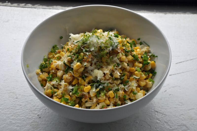 Slice of Rice: Roasted Corn with Manchego and Lime