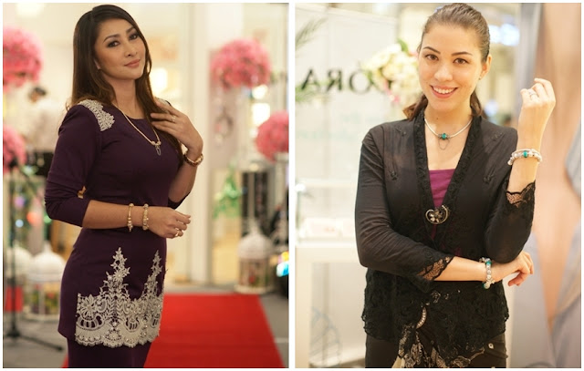 Actress Rita Rudaini wearing the Hari Raya collection, Nadia Heng, Miss World Malaysia 2010, Pandora Raya 2013