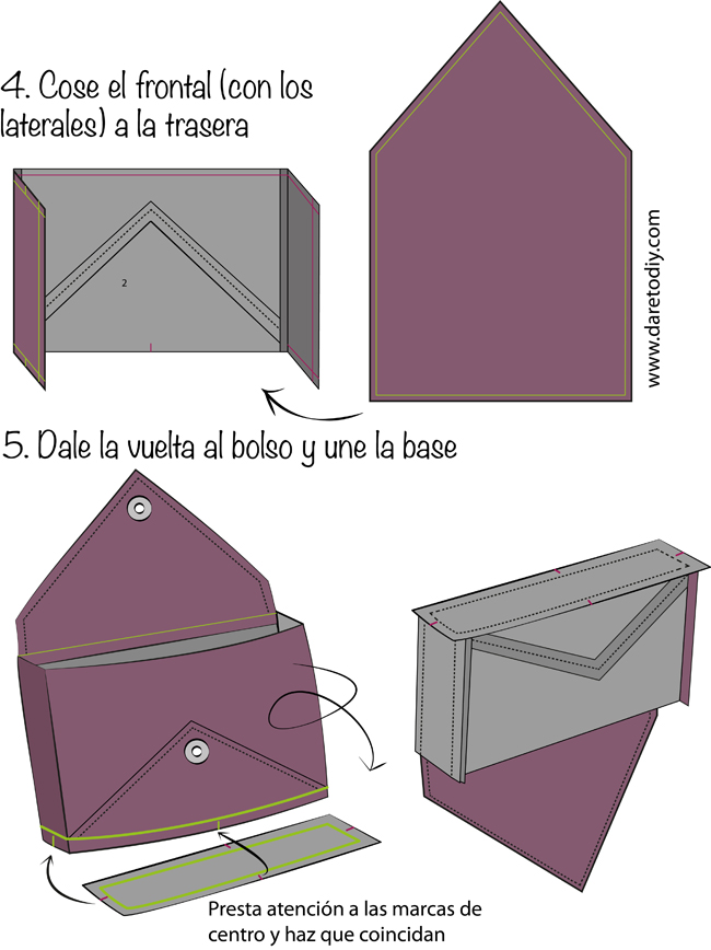 Dare to DIY: Tutorial DIY: Cómo hacer un clutch sobre
