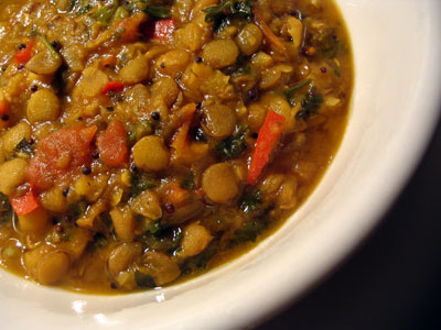 Spicy Green Lentils and Yellow Split Peas