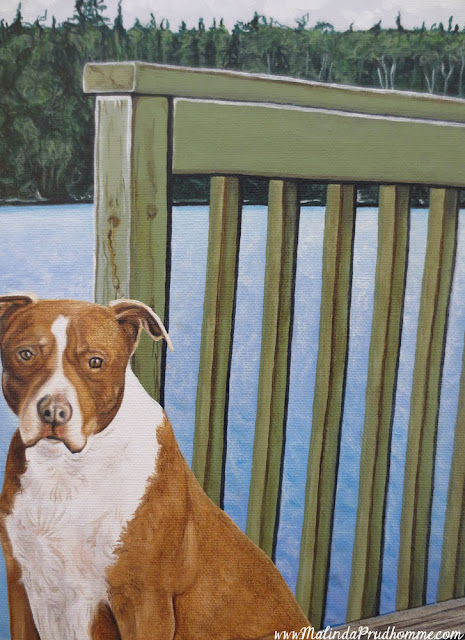 boomer, dog portrait, pet portrait, pup, puppy, dog painting, pet painting, pup painting, pet parent, dog memory, loving memory, realistic portrait, toronto portrait artist, malinda prudhomme, oil paint, acrylic paint, detailed artwork