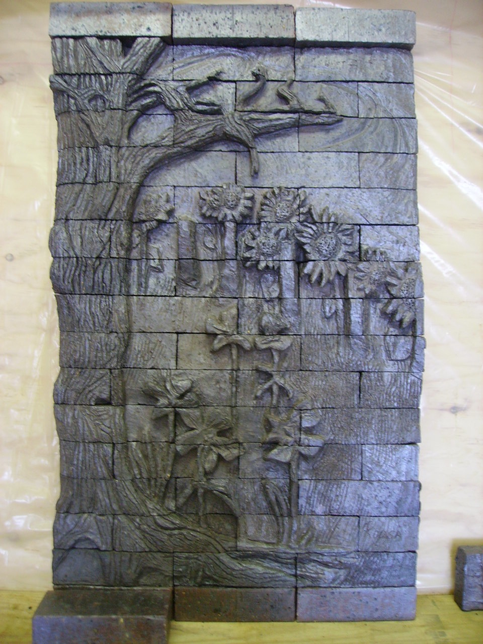 Cccc art stars relief sculpture brick carving class