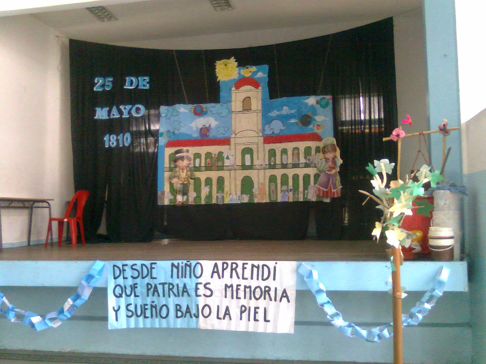 25 de mayo decoracion en nivel inicial biblioteca quot for Decoracion 25 de mayo nivel inicial