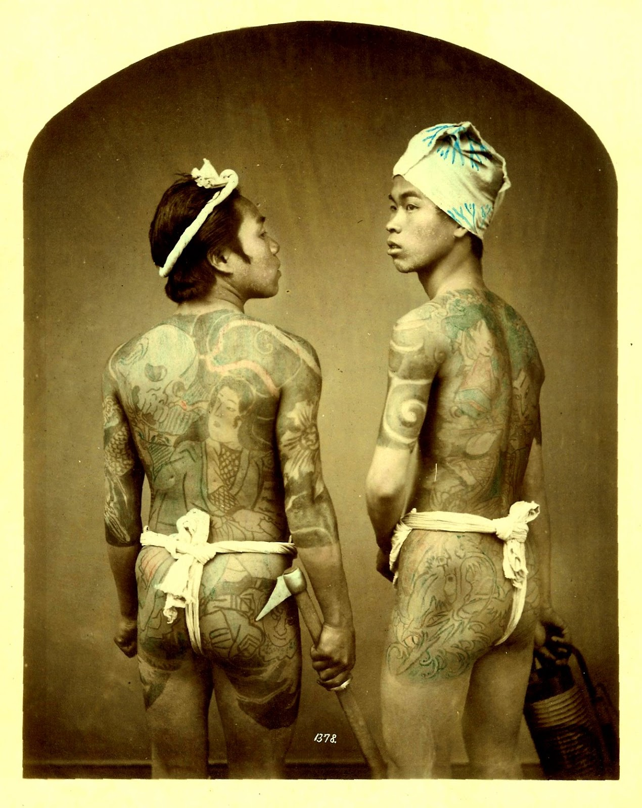 World of old japanese tattoos circa late 1880s vintage for Japanese war tattoos