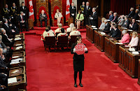 Brigette DePape in the Senate.