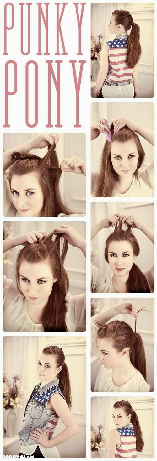 Easy Way for Punky Pony Hair Style