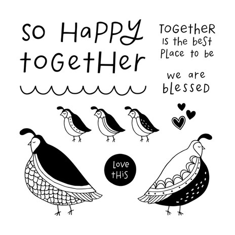 Stamp of the Month-Flock Together