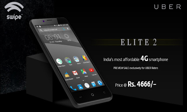Swipe Elite 2 4G Smartphone Launched in India