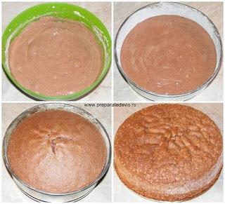 blat de tort, pandispan, preparare blat de tort din pandispan, preparare blat de tort, preparare pandispan, retete culinare, cum se face blatul de tort, cum se face pandispan, blat de tort negru, pandispan negru,