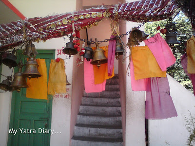 Temple bells at the Bhairon Devta Temple, Bhaironghati in the Garhwal Himalayas