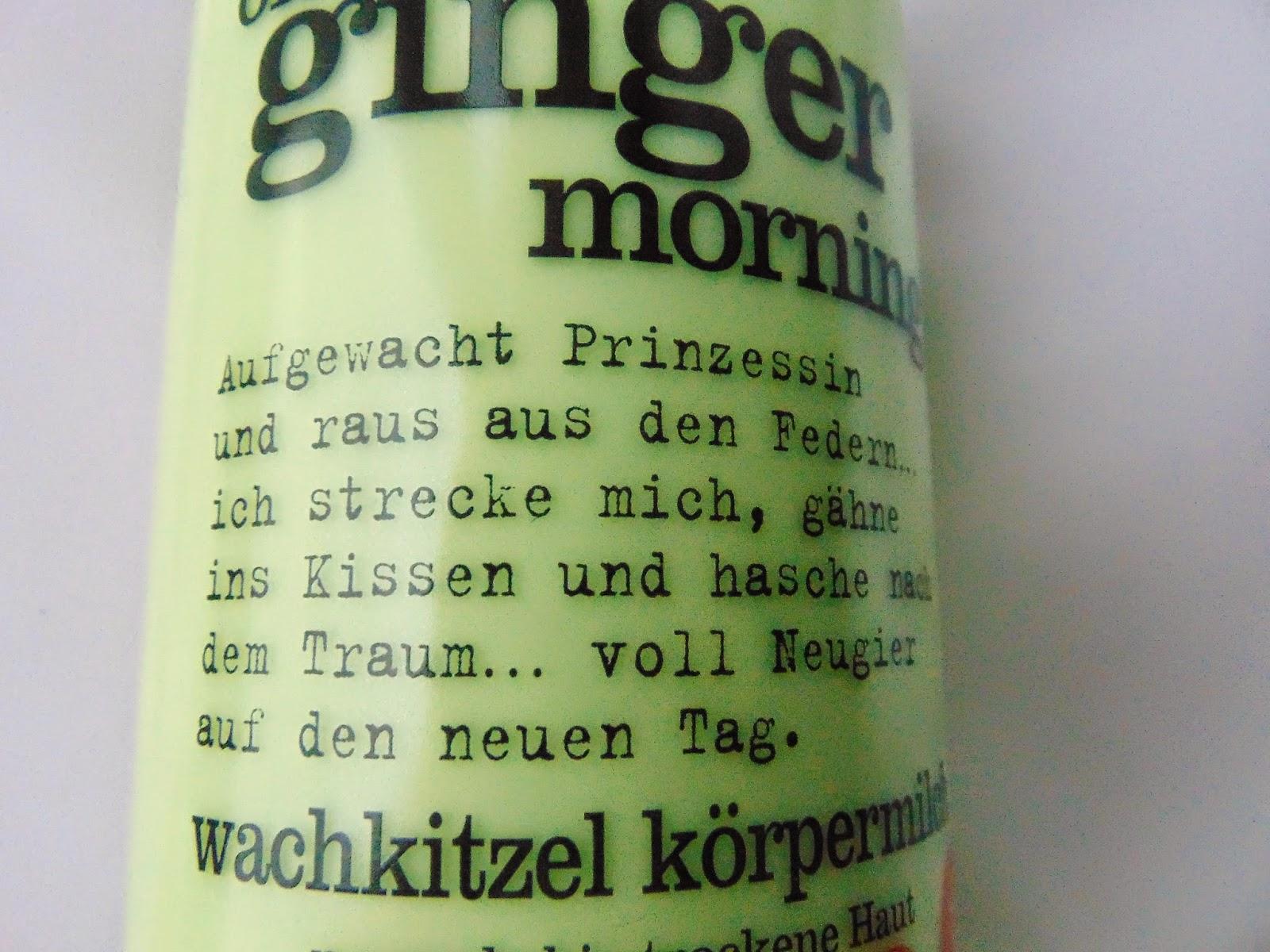 Treaclemoon Körpermilch Ginger - www.annitschkasblog.de