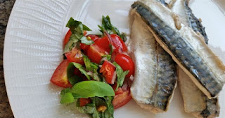 Mackerel and tomato salsa