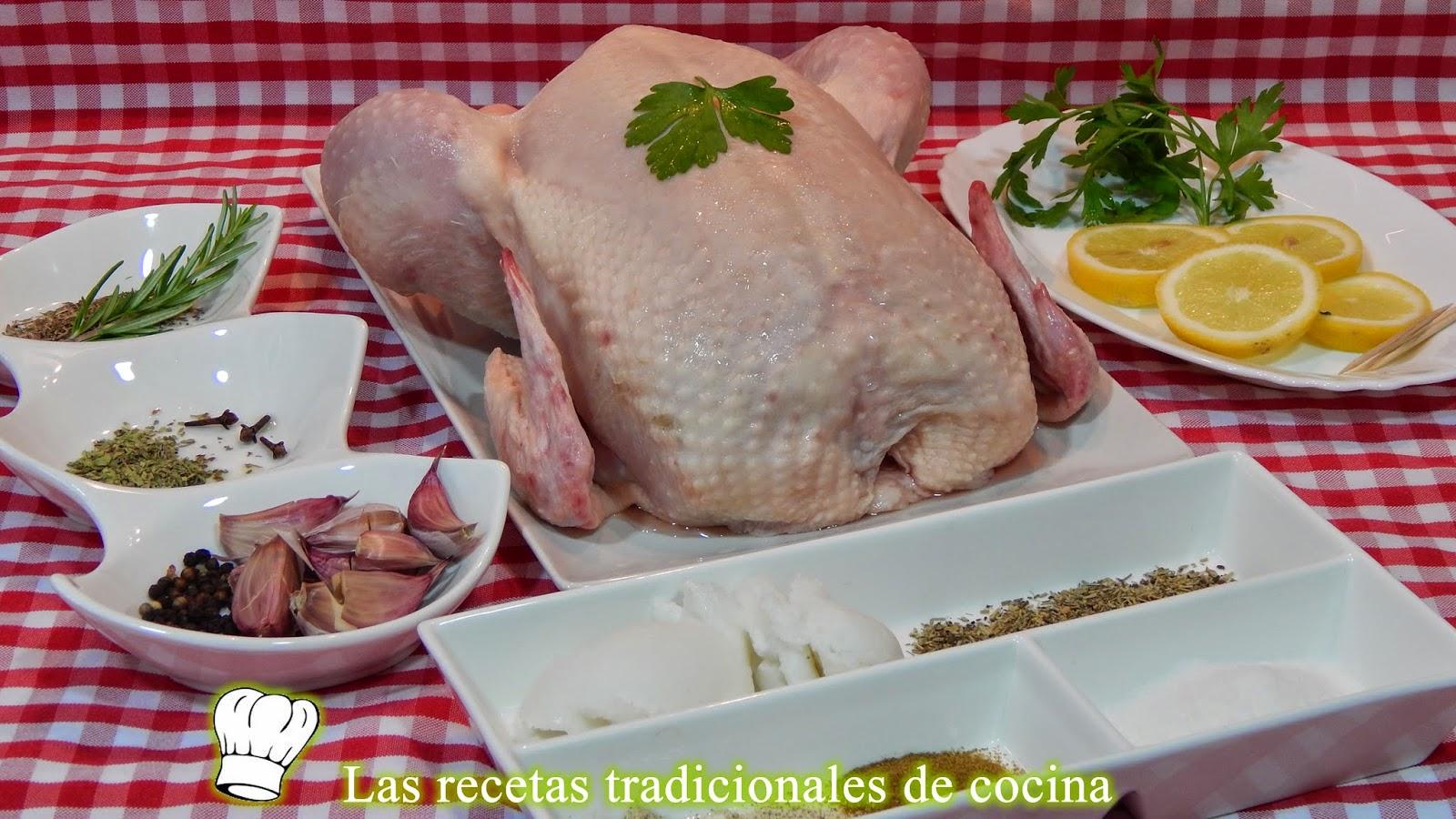Receta de pollo al horno a las finas hierbas