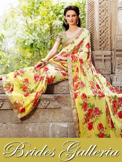 Brides Galleria Printed Georgette and Crepe Saree Collection 2013-2014