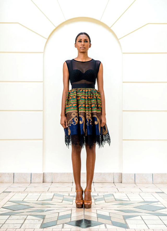 Taibo Bacar's F/W 2013 lookbook - Ciaafrique- kitenge style dress