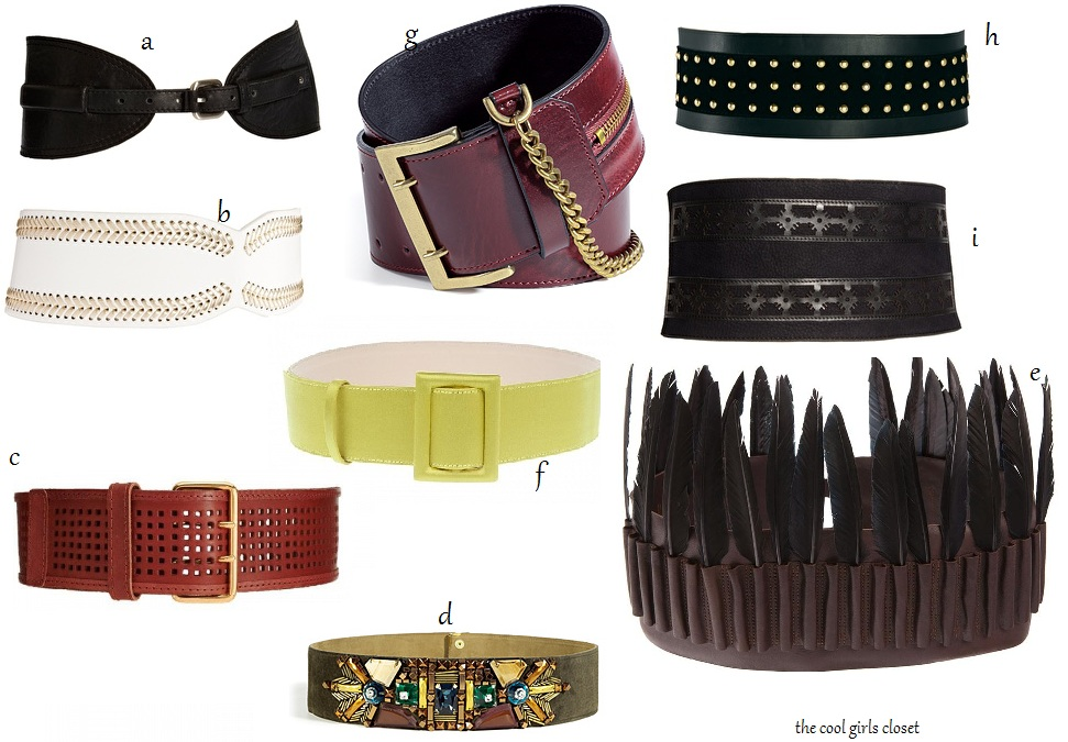 cool closet must fashion accessory wide belts