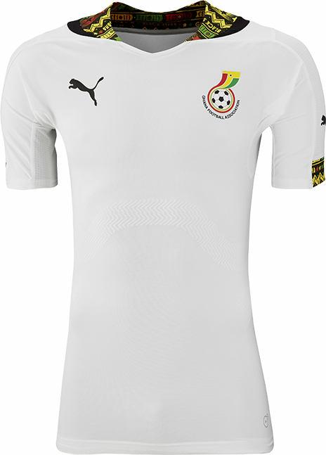 Melhores uniformes  Ghana+2014+World+Cup+Home+Kit