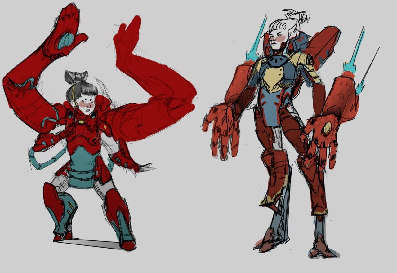 Character Design Overwatch : Ikazilla