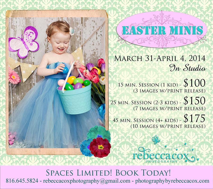 Easter mini portrait sessions kansas citylees summit baby you can even use them to make your own easter cards or you may order professional easter cards through me solutioingenieria Image collections