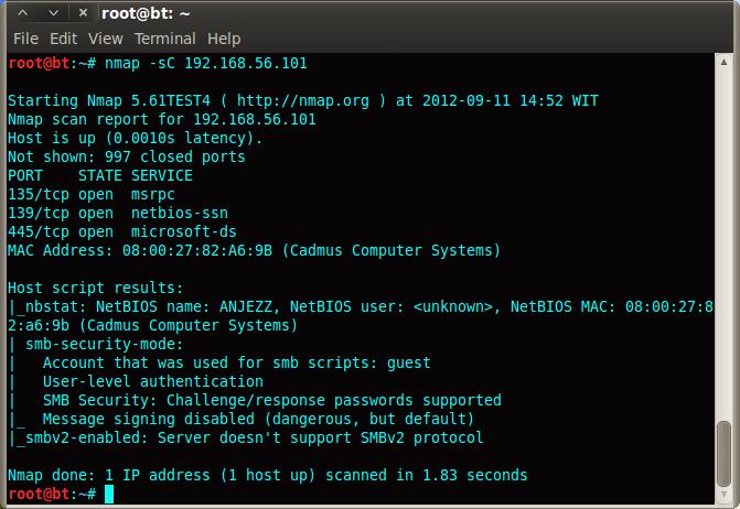 Information Security ~ Shinobi: How to exploit Port 445 SMB using