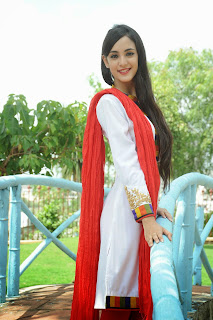 Kanika Kapoor fresh Telugu Actress in White Anarkali Suit at launch of her debut movie Tippu