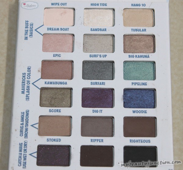 theBalm Balmsai eyeshadow palette swatches, review