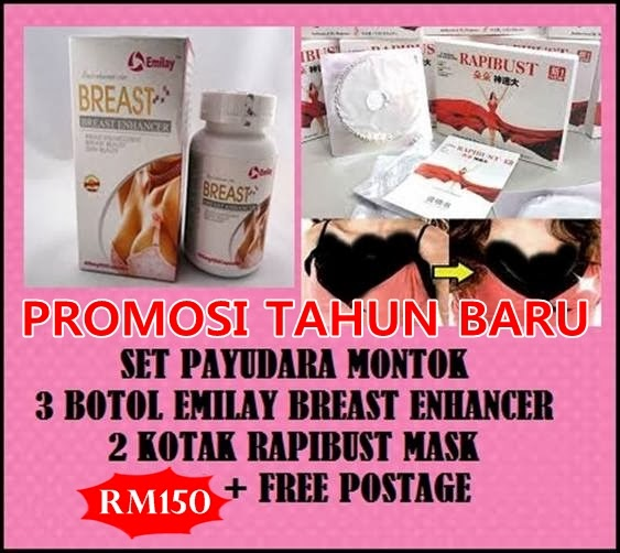 COMBO!! 3 BOTOL EMILAY BREAST ENHANCER FREE 2 RAPIBUST!