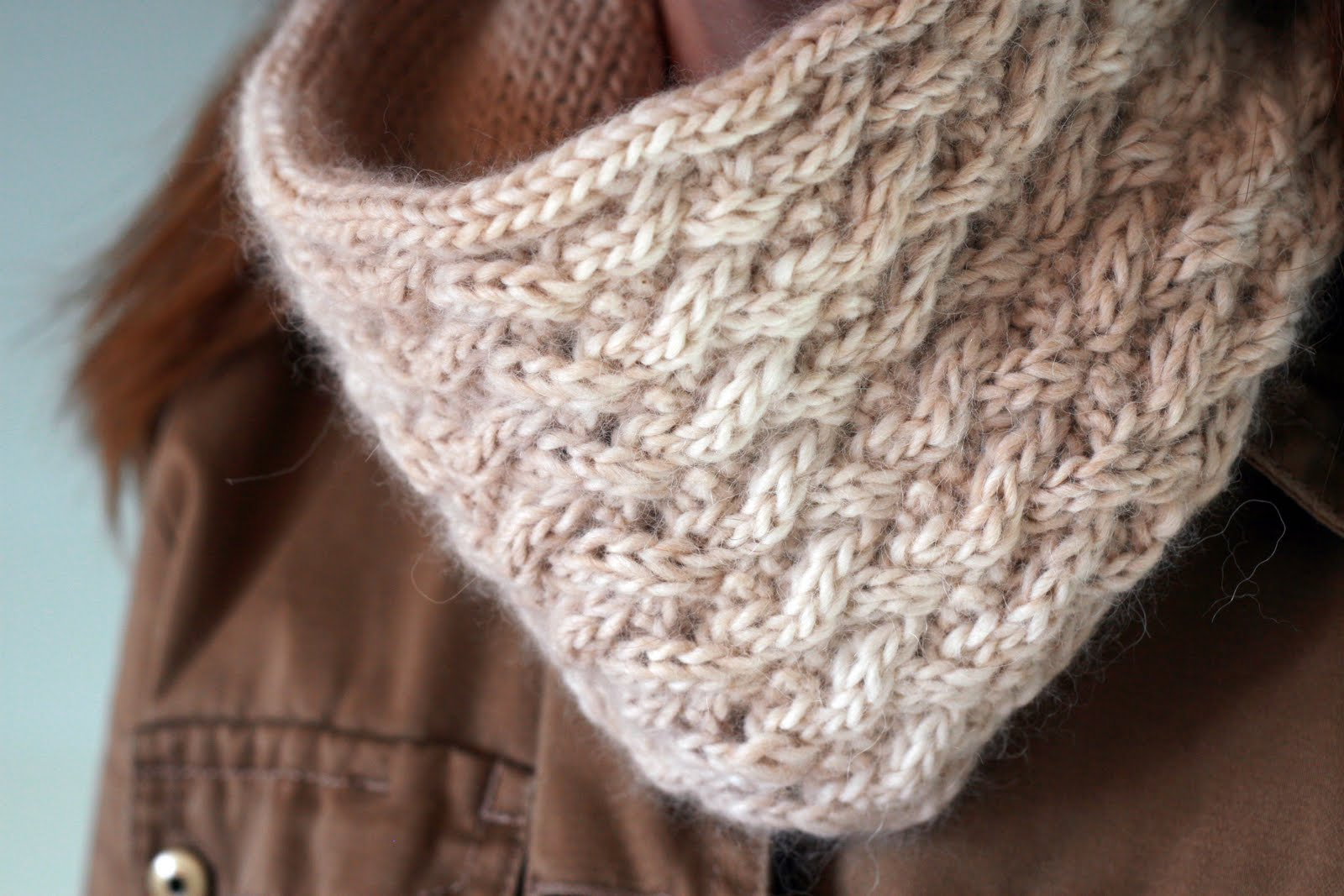 Crochet Knit Stitch In The Round : KATE PRESTON HANDKNITS /BLOG: Update: Lattice Stitch Cowl