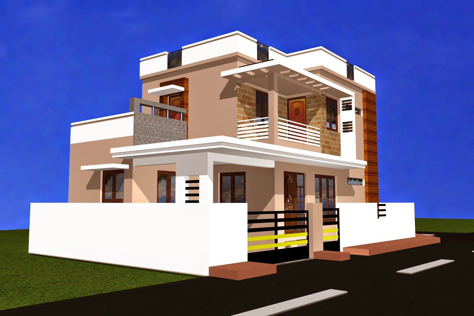 3d elevation of residential building joy studio design for Residential house plans and elevations