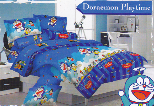 Sprei Love Story Doraemon Playtime