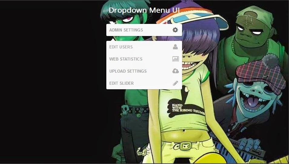 Dropdown Menu UI