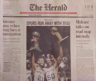 Miami Herald, June 16, 2003: front page article on InfoPass (Left Column)