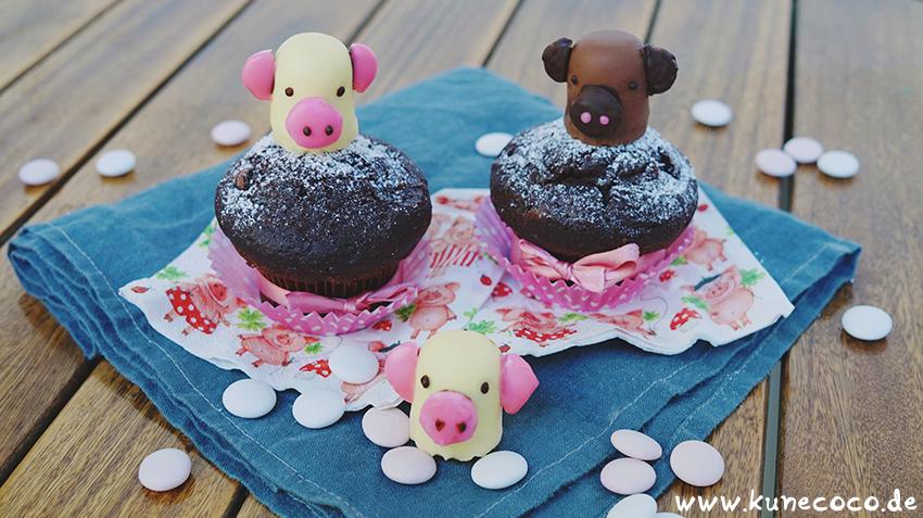 KuneCoco • Schweine Cupcake-Topper • Schweinemuffins