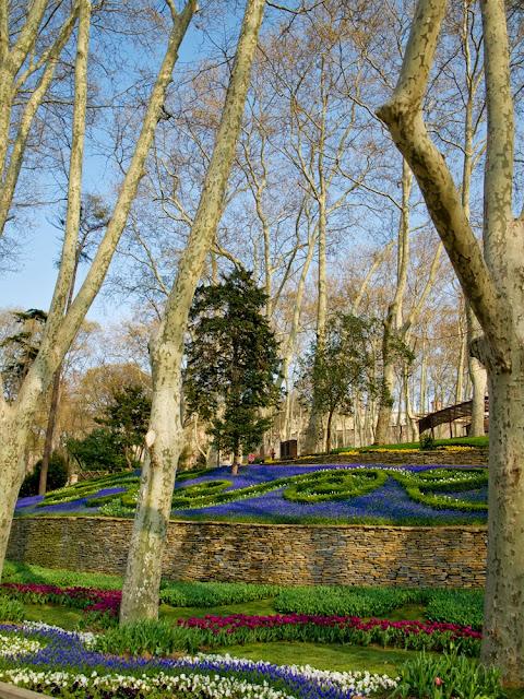 Decoración floral en el Gülhane Park, Estambul