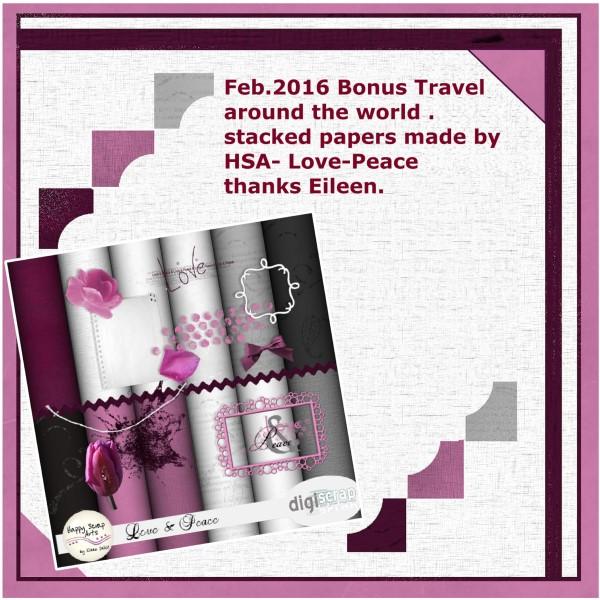 Bonus gift preview Feb. '16 - travel around the world challenge (Custom)