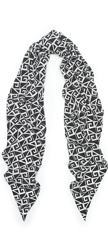Greek-Key Scarf