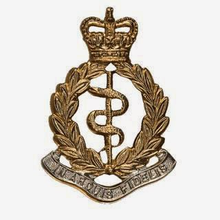 Royal Army Medical Corps badge.